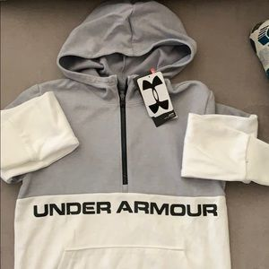 Kids Under Armour half zip hoody NWT